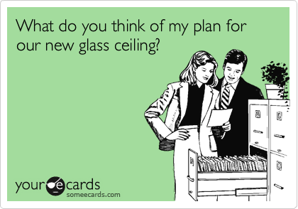 What do you think of my plan for our new glass ceiling?