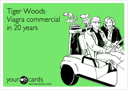 Tiger Woods Viagra commercial in 20 years