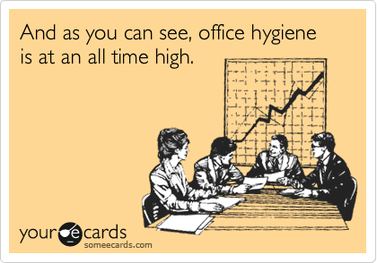 And as you can see, office hygiene is at an all time high.