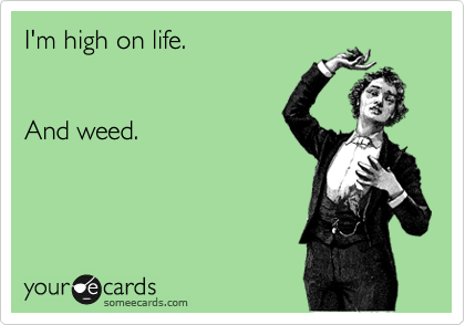 I'm high on life.   And weed.