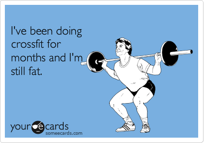 I've been doing  crossfit for months and I'm still fat.