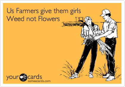 Us Farmers give them girls Weed not Flowers
