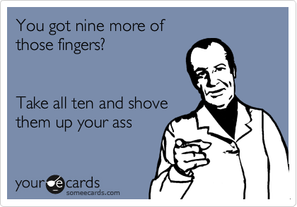 finger up your ass