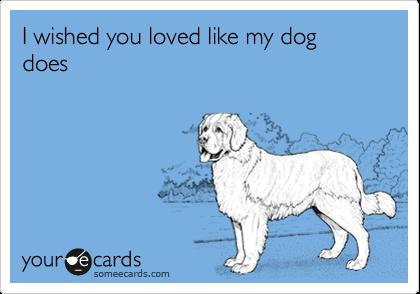 I wished you loved like my dog does