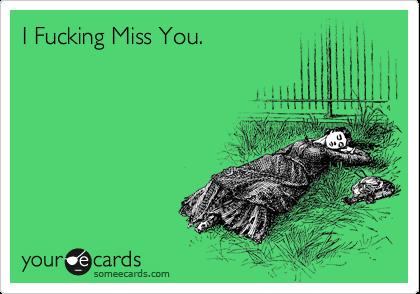 I Fucking Miss You.