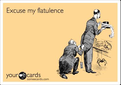 Excuse my flatulence