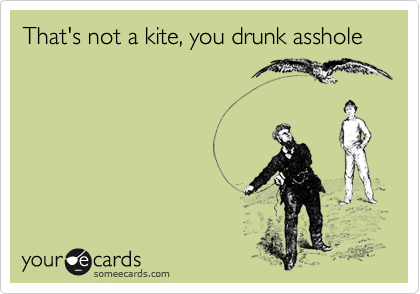 That's not a kite, you drunk asshole