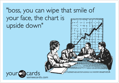 """boss, you can wipe that smile of your face, the chart is upside down"""
