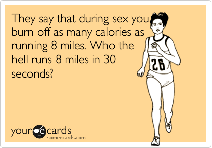How many calories you burn when you have sex