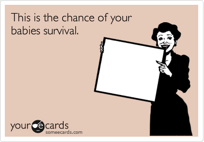 This is the chance of your babies survival.