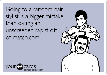 Dating your hair stylist