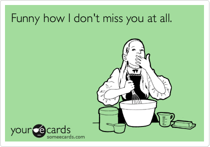 Funny How I Dont Miss You At All Breakup Ecard