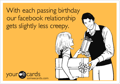 With Each Passing Birthday Our Facebook Relationship Gets Slightly