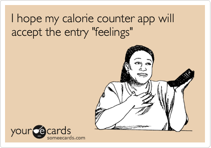 "I hope my calorie counter app will accept the entry ""feelings"""