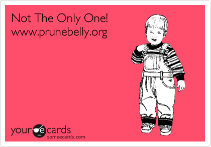 Not The Only One! www.prunebelly.org