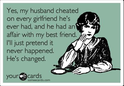 My husband cheated