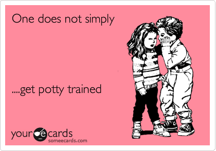 One does not simply     ....get potty trained