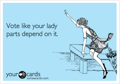 someecards.com - Vote like your lady parts depend on it.