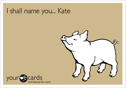 I shall name you... Kate