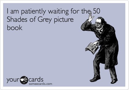 I am patiently waiting for the 50 Shades of Grey picture                        book