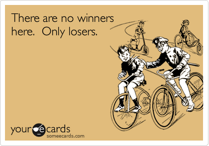 There are no winners here.  Only losers.