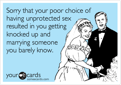 Unprotected sex with a married man