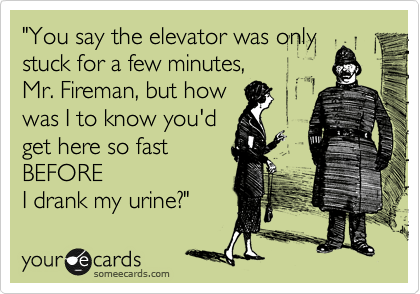 Image result for stuck in an elevator funny