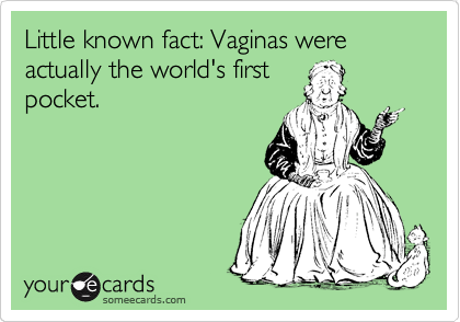 Little known fact: Vaginas were actually the world's first pocket.