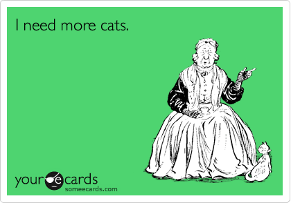 I need more cats.