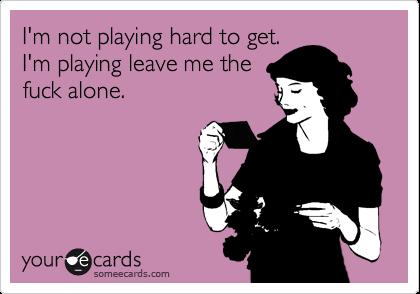 Playing hard to get
