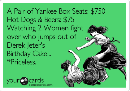 A Pair Of Yankee Box Seats 24750 Hot Dogs Beers 2475 Watching