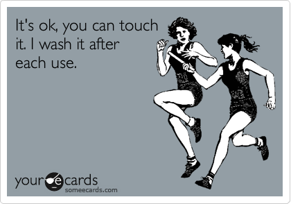It's ok, you can touch it. I wash it after each use.