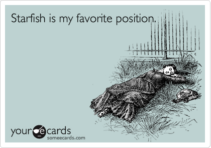 The starfish sex position