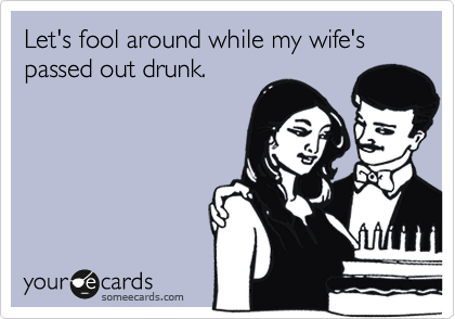 flirting when drunk