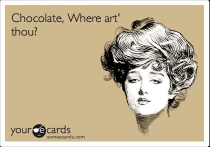 Chocolate, Where art' thou?