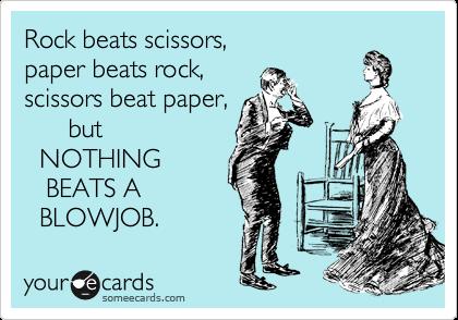 Rock beats scissors, paper beats rock, scissors beat paper, but ...