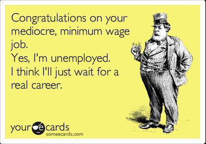 minimum wage job