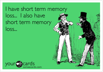 How do I know if i have short term memory loss?