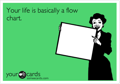 Your life is basically a flow chart.