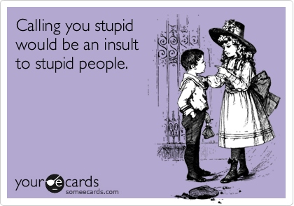 you are a stupid person