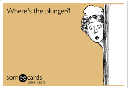 Where's the plunger?!