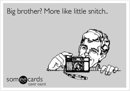 Big brother? More like little snitch..