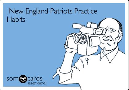 New England Patriots Practice Habits