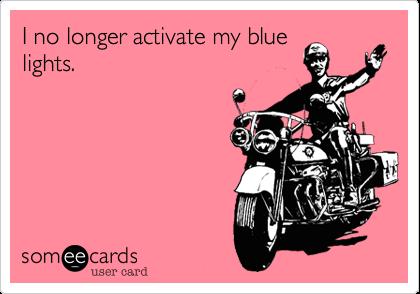 I no longer activate my blue lights.