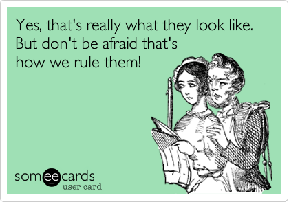 Yes, that's really what they look like. But don't be afraid that's how we rule them!