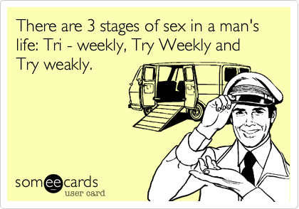 Stages of sex life of man