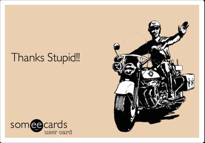 Thanks Stupid!!