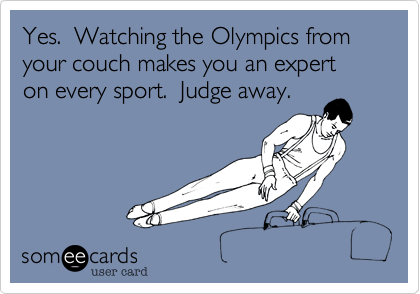 Yes.  Watching the Olympics from your couch makes you an expert on every sport.  Judge away.