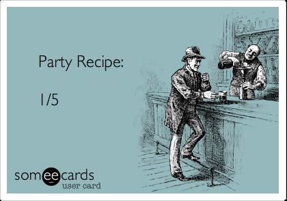 Party Recipe:            1/5
