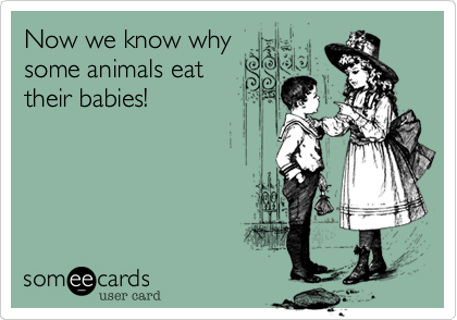 Image result for animals eat babies